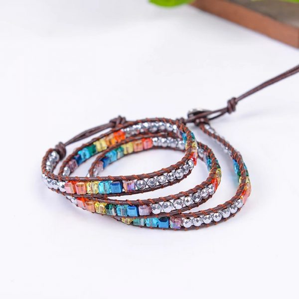 7 Color Crystal Chakra Bracelet clear