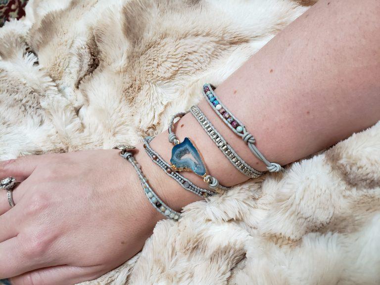 Blue Jasper Throat Chakra Bracelets photo review