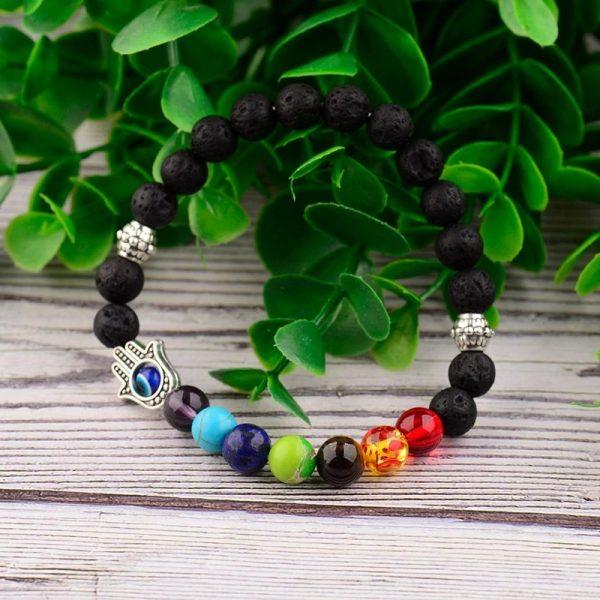 7 Color Chakra Bracelet hamsa