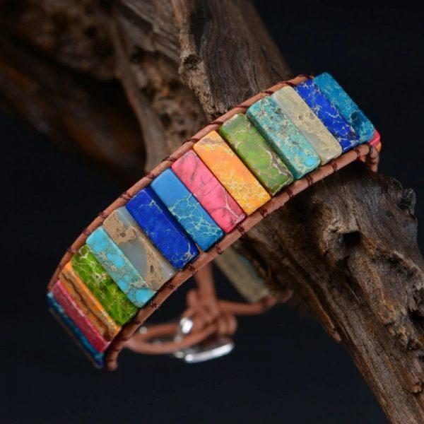 7 color tube beads chakra bracelet
