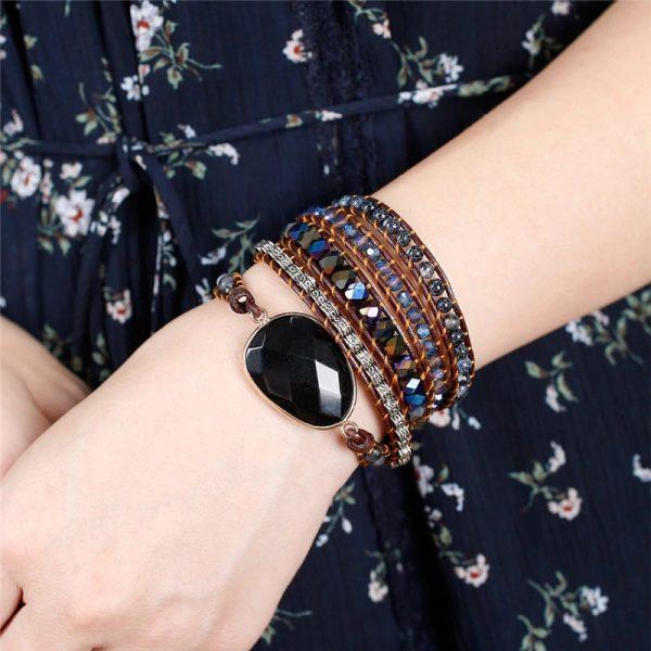 Black Onyx Root Chakra Bracelet hand