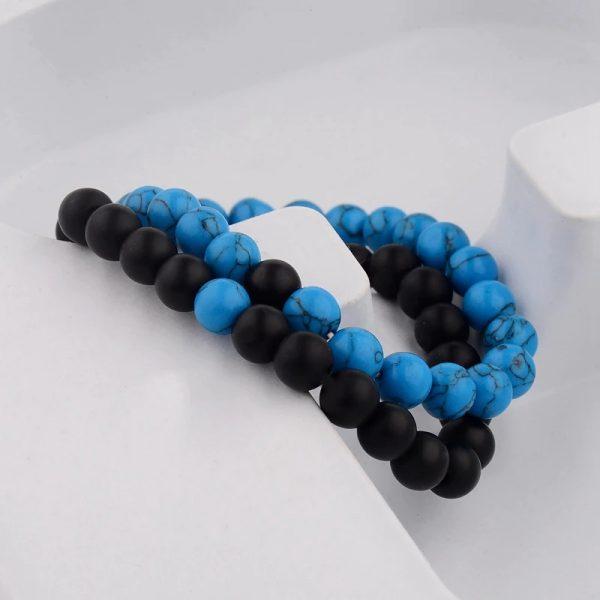 Chakra bracelet distance bracelet blue black