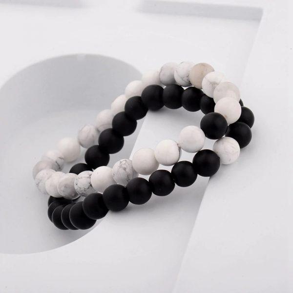 Chakra bracelet distance bracelet white black