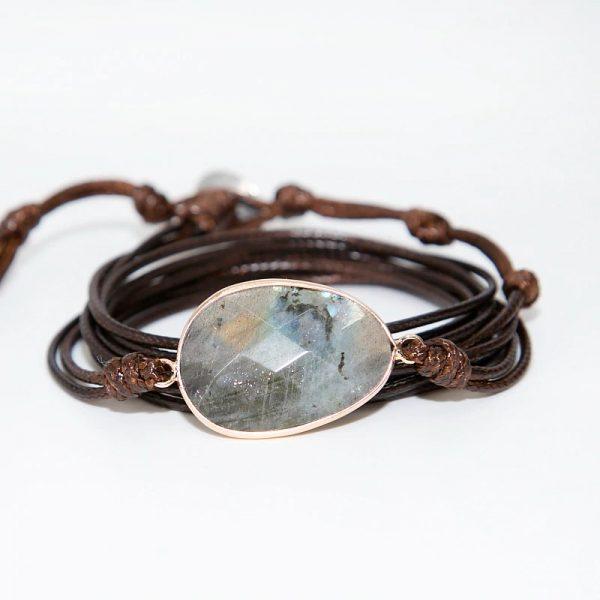 Labradorite Throat Chakra Bracelet isolated