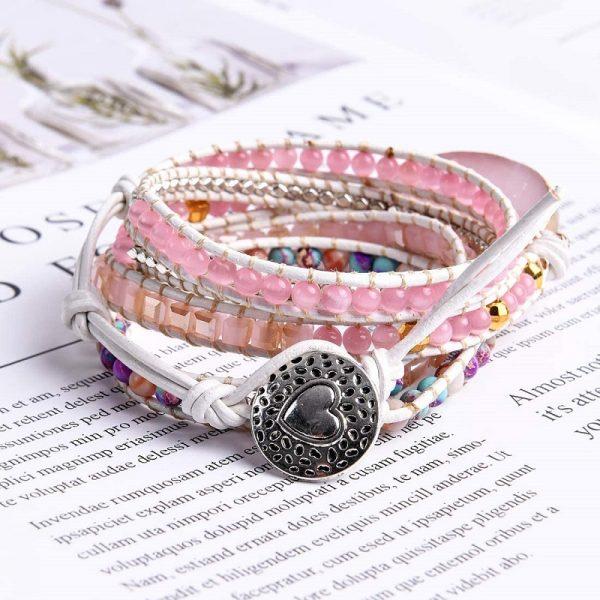 Rose Quartz Heart Chakra Bracelet button