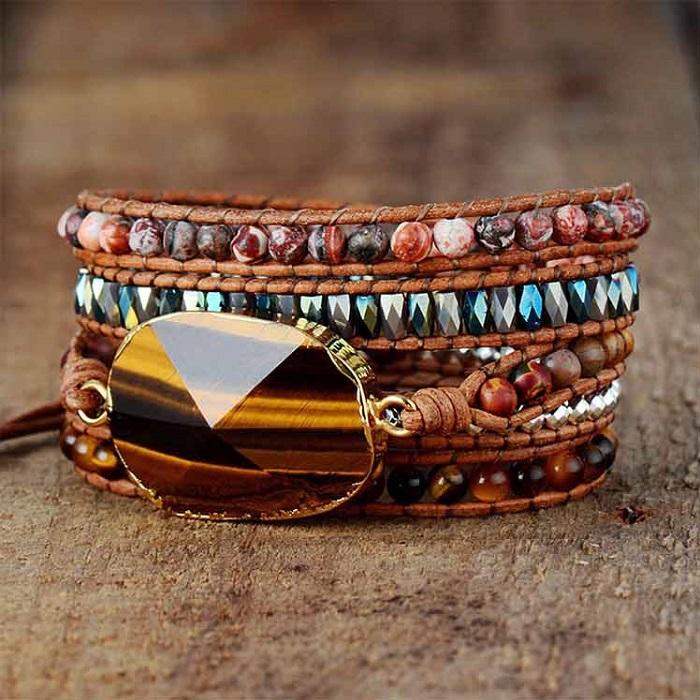Solar Plexus Chakra Tiger's Eye bracelet