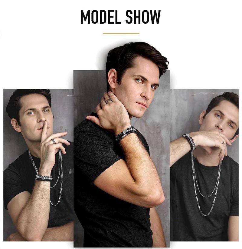 chakra bracelet for men model