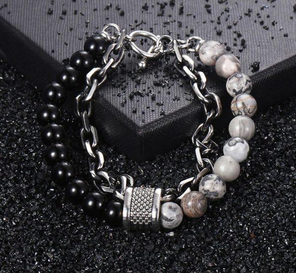 chakra bracelet for men onyx jasper photo