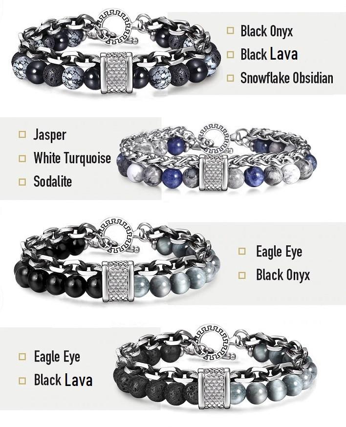 chakra bracelet for men style jasper soladite lava