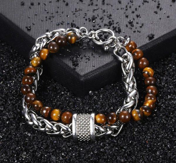 chakra bracelet for men tiger eye photo